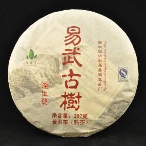 2010-Long-Xin-Tang-Yi-Wu-Gu-Shu-Ripe-Pu-erh-tea-cake-357-grams