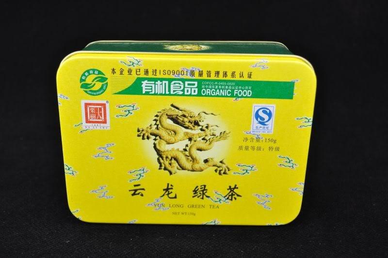 """Certified Organic """"Yun Long Te Ji Bi Luo Chun"""" Green Tea in Tin * 150 grams * Spring 2016"""