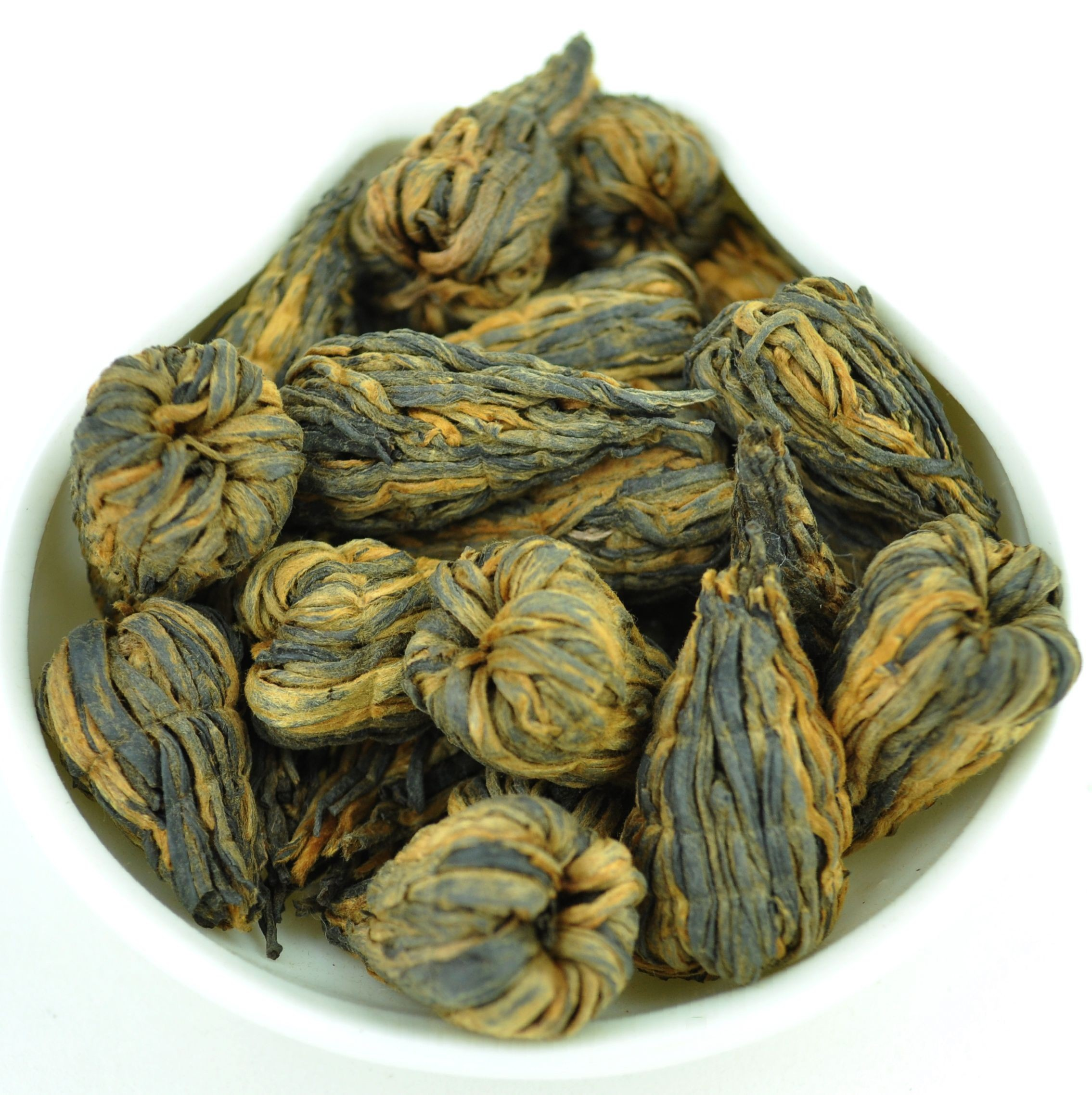 Hand-Made Flowering Yunnan Feng Qing Black Tea Cones * Spring 2016